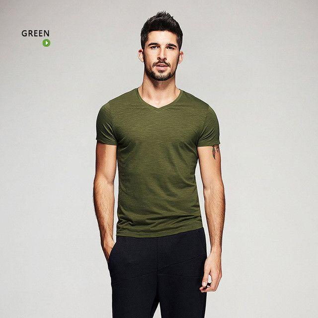V-neck Short Sleeve T-Shirts - Slim Fit