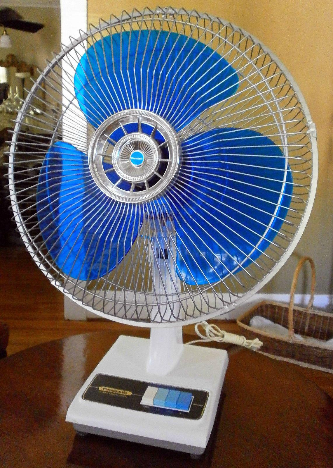 1970 S Panasonic 16 Quot Oscillating Fan Blue Blades Model