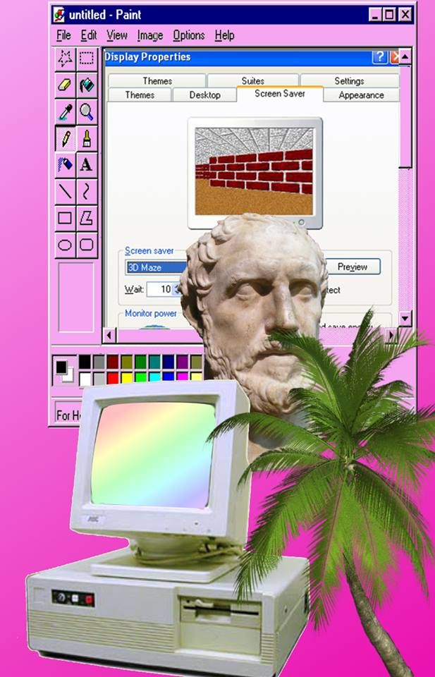 vaporwave windows theme