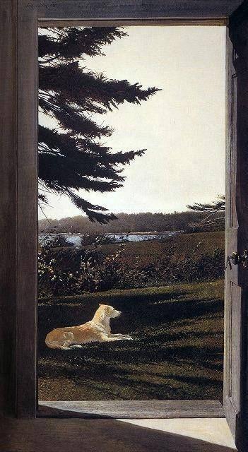 Andrew Wyeth (1917 — 2009, USA)  Shade. 1981 tempera. © Andrew Wyeth