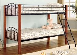 Fortuna Wood Metal Twin Bunk Bed Kids Twin Over Twin Beds For Sale Twin Bunk Beds Metal Bunk Beds Bunk Beds