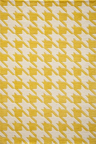 Complete your modern room with the Yellow Delhi Houndstooth Rug.  Mixing fun patterns and classic colors, this rug is perfect for a contemporary space!