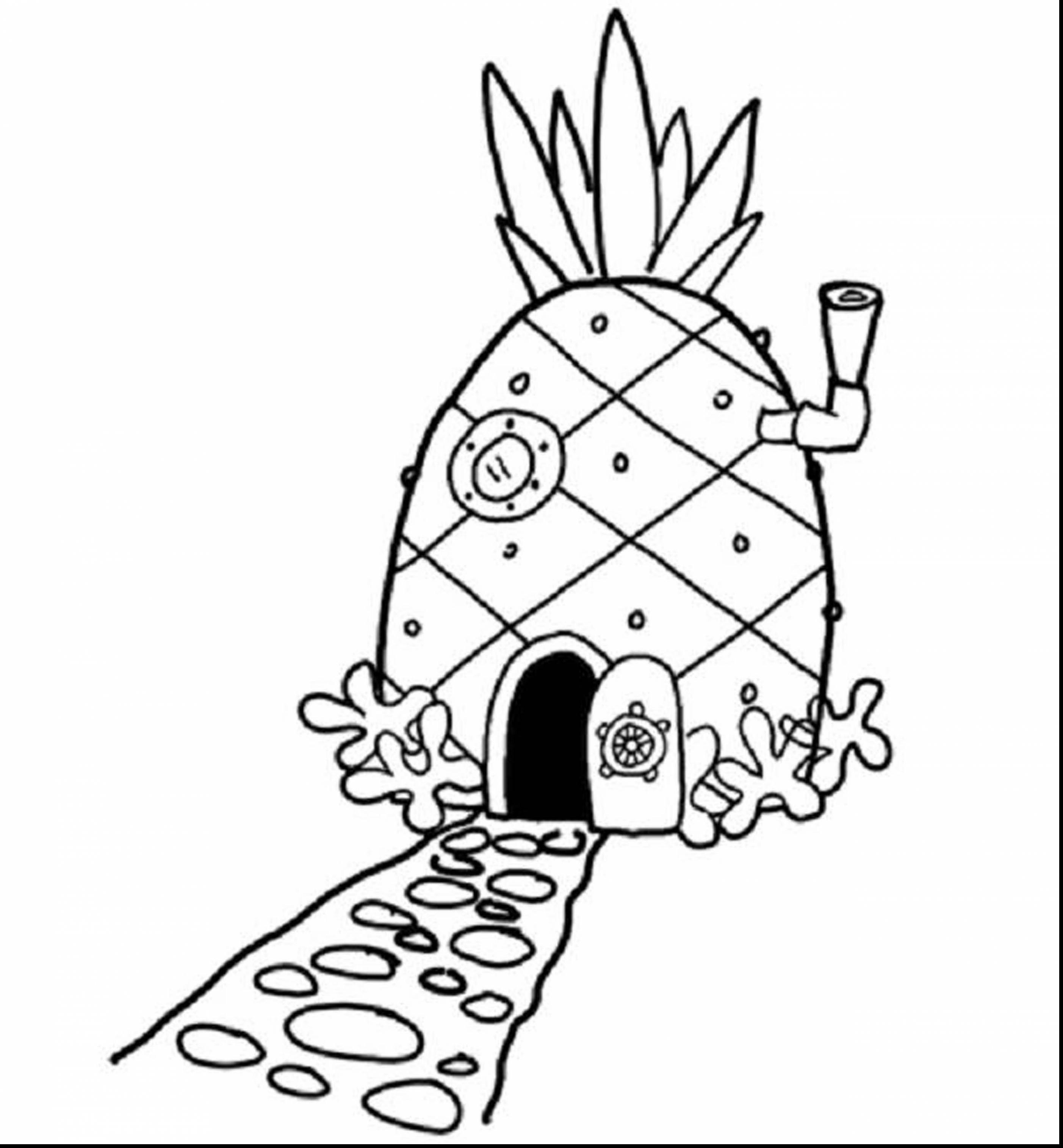 Pineapple Coloring Pages Coloring Pages Coloring Pages Spongebob