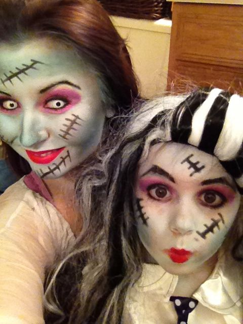 mother and daughter halloween costume frankie stein from monster high donna winkwink frankenstein