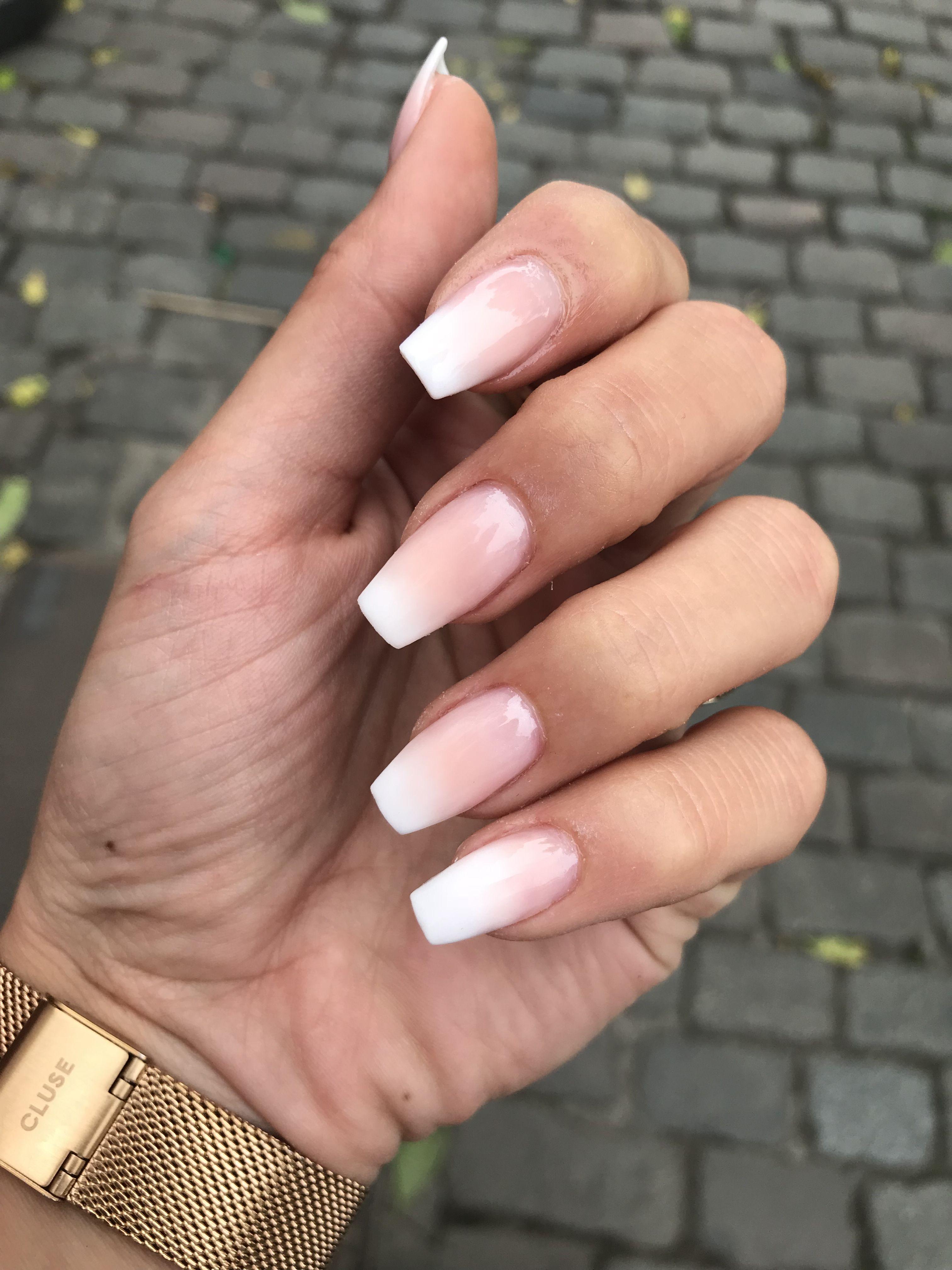 Timeless baby boomer | Cute acrylic nails, Ambre nails ...