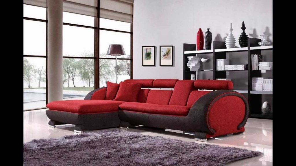 awesome red black and white living room set with regard to Property