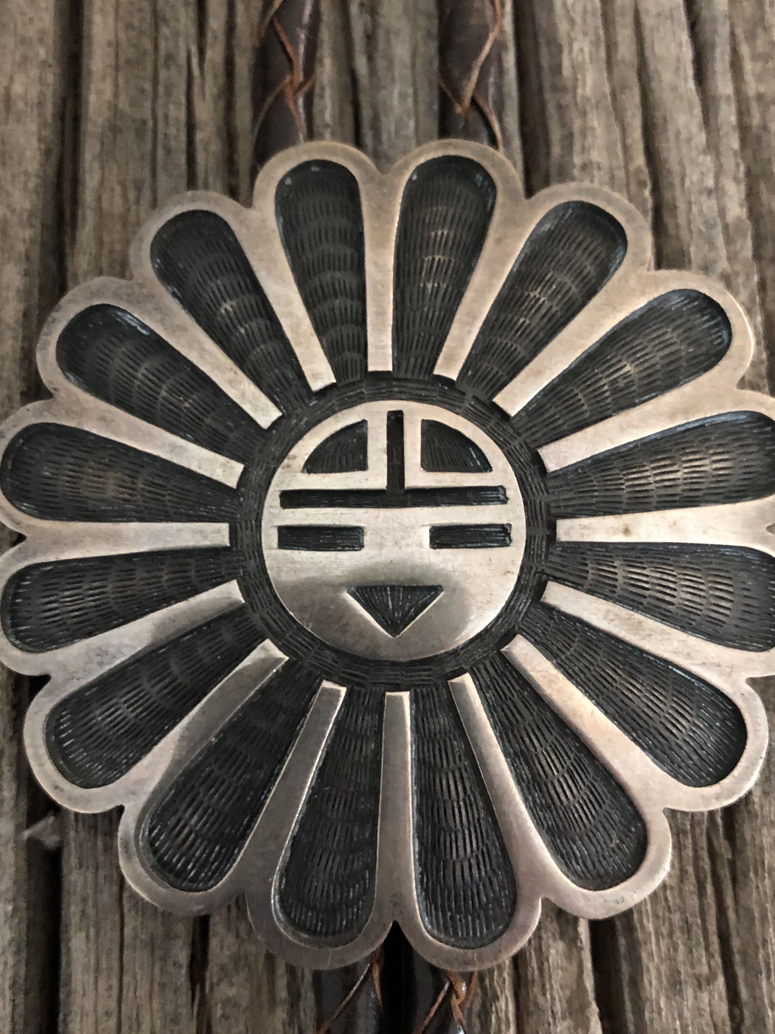 Hopi sunface bolo native american symbols south