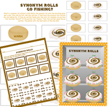 Synonym Rolls Go Fishing? Game & Activity Printables. You