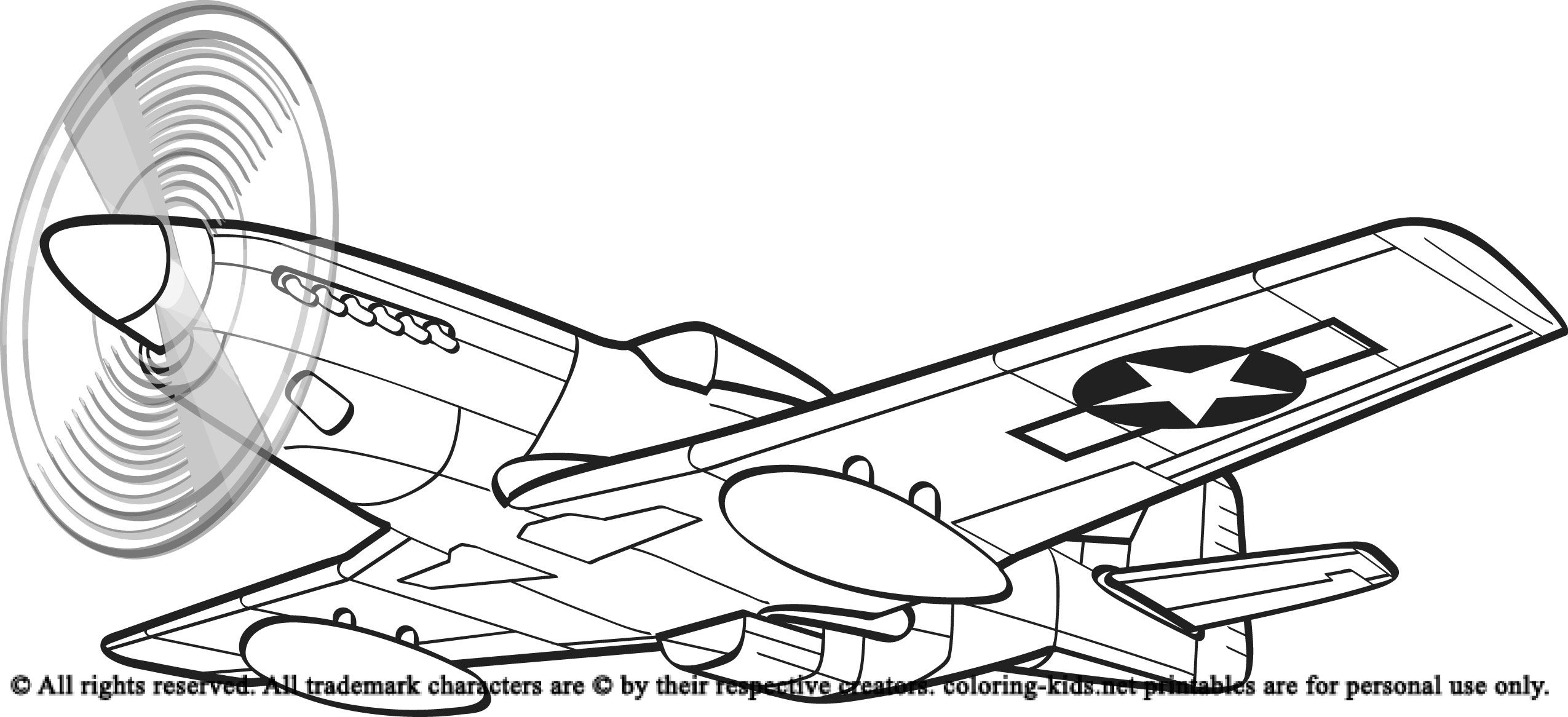 Airplane With A Beautiful Glass | Airplanes Coloring Pages | Pinterest