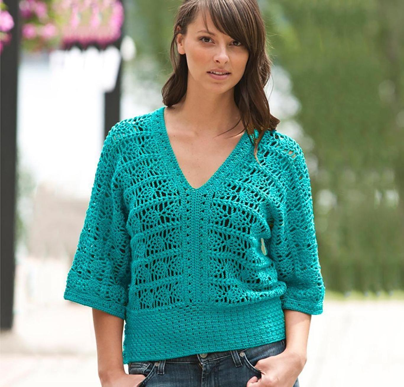 Pineapple Top Sweater Crochet Kit | Crochet and Knitting Patterns ...