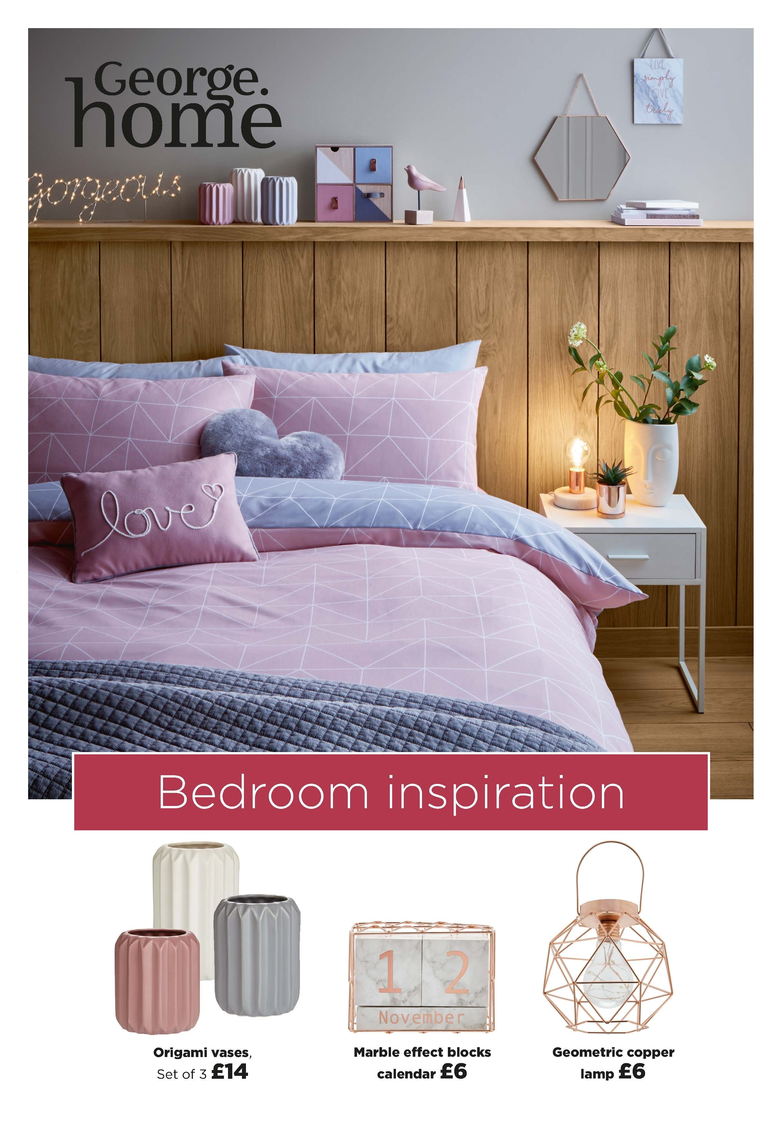 Bring the harmony trend into your bedroom with geometric patterns
