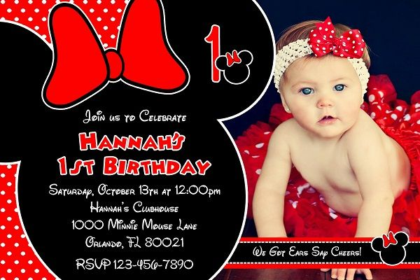 Red Minnie Mouse Birthday Invitations Ideas For Cathy