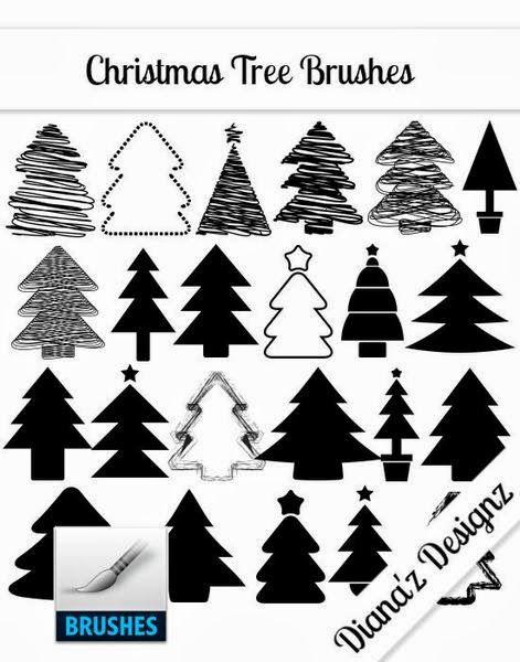 Free Christmas Tree Brushes 9021 Ribbon On Christmas Tree Christmas Crafts Decorations Christmas Tree