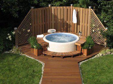 Am nagement d co pour une piscine hors sol spa jardin - Amenagement exterieur piscine hors sol ...