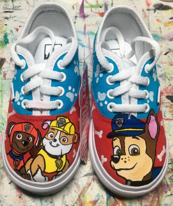 9c67fd9420e318 Paw Patrol inspired custom painted shoes. by LaceysCraftyLetters ...