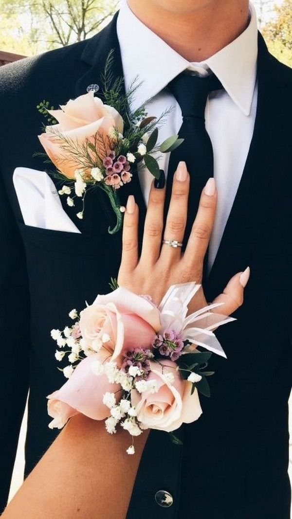 Top 30 Prom Corsage and Boutonniere Set Ideas for 2020