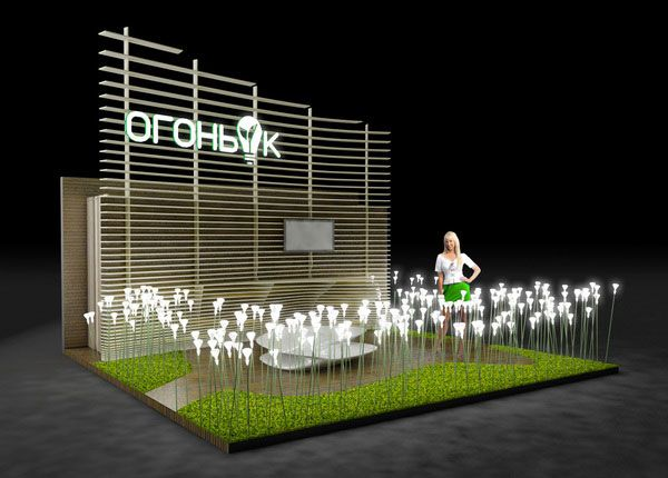 Innovative Exhibition Stand Design : Led bulbs expo in russia exhibition display design