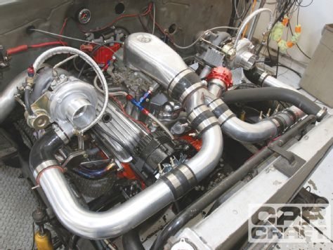 Cheap Turbos From eBay On A 350 Small Block Engine Car