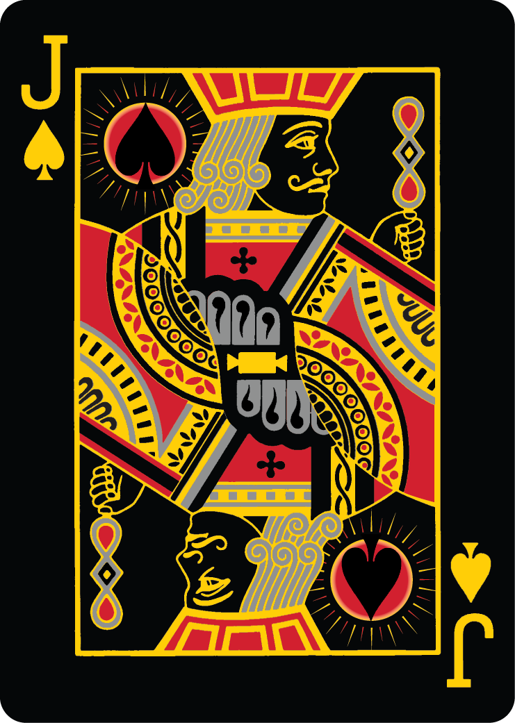 Bicycle Total Eclipse Playing Cards By Allfouraces Printed By Uspc Jack Of Spades Playing Cards Art Playing Cards Design Custom Playing Cards