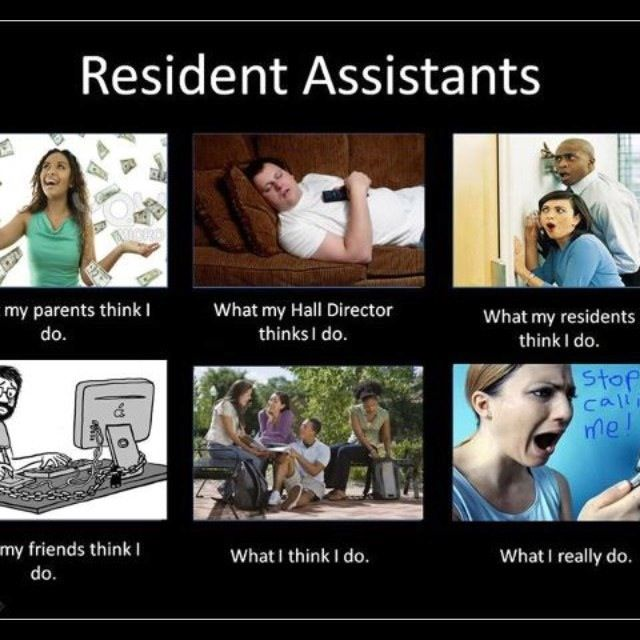 Hahaha, no, RAs, thatu0027s NOT what I think you do! ) ResLife - Resident Assistant Job Description
