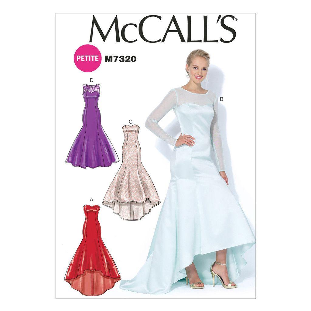 McCall\'s 7320 Sewing Pattern - Misses\' Mermaid Hem Hi/Lo Dresses ...