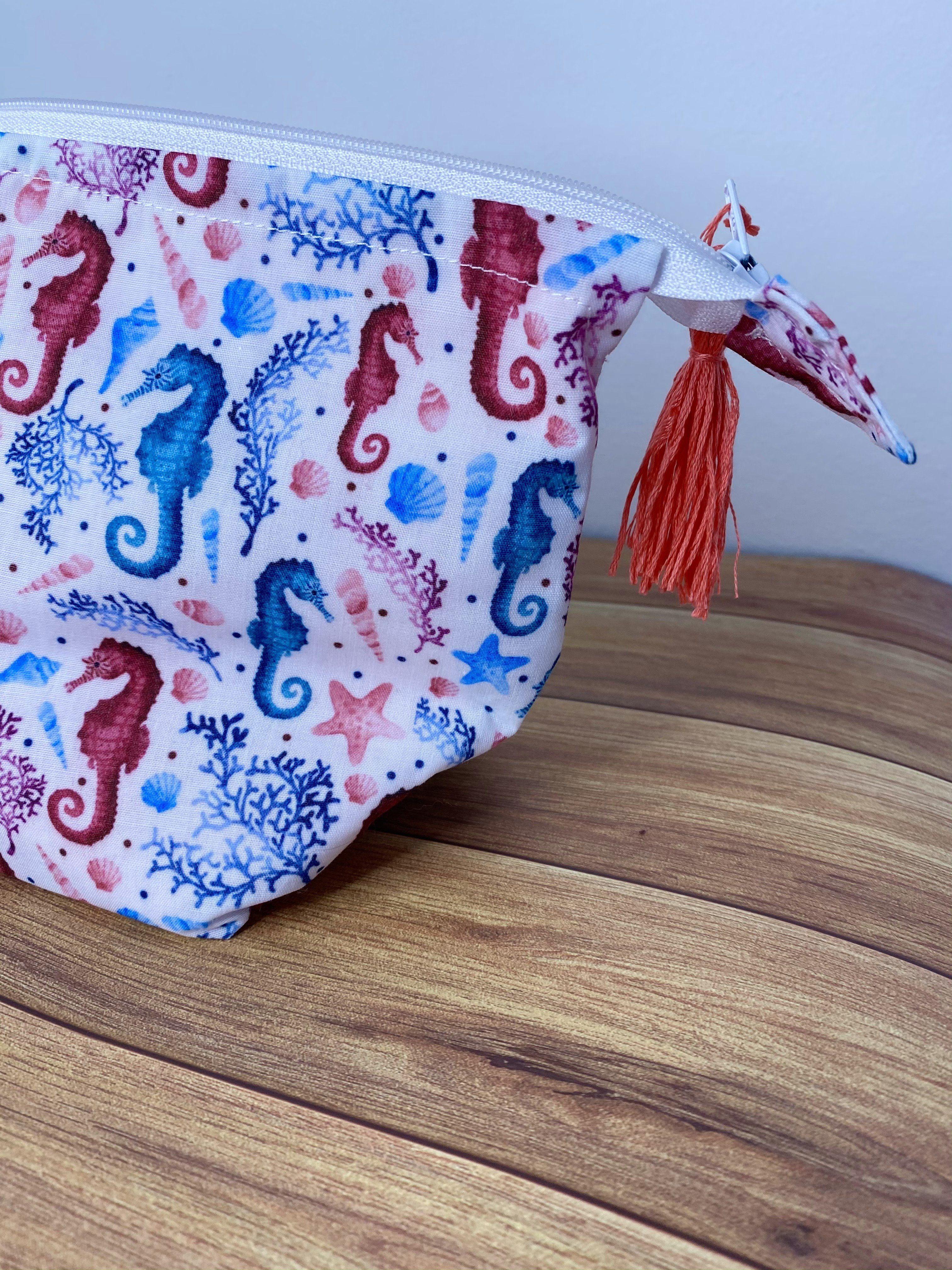 Seepferdchen-Muster // Schminktasche