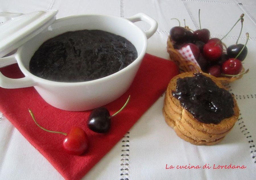 Marmellata di ciliegie con vino rosso la cucina di loredana blog - Loredana in cucina ...