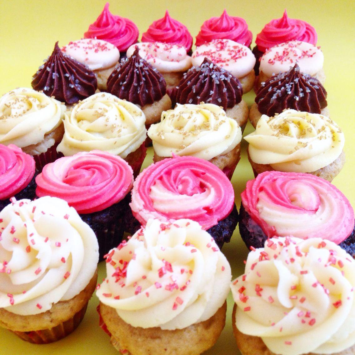 Minicupcakes baby shower