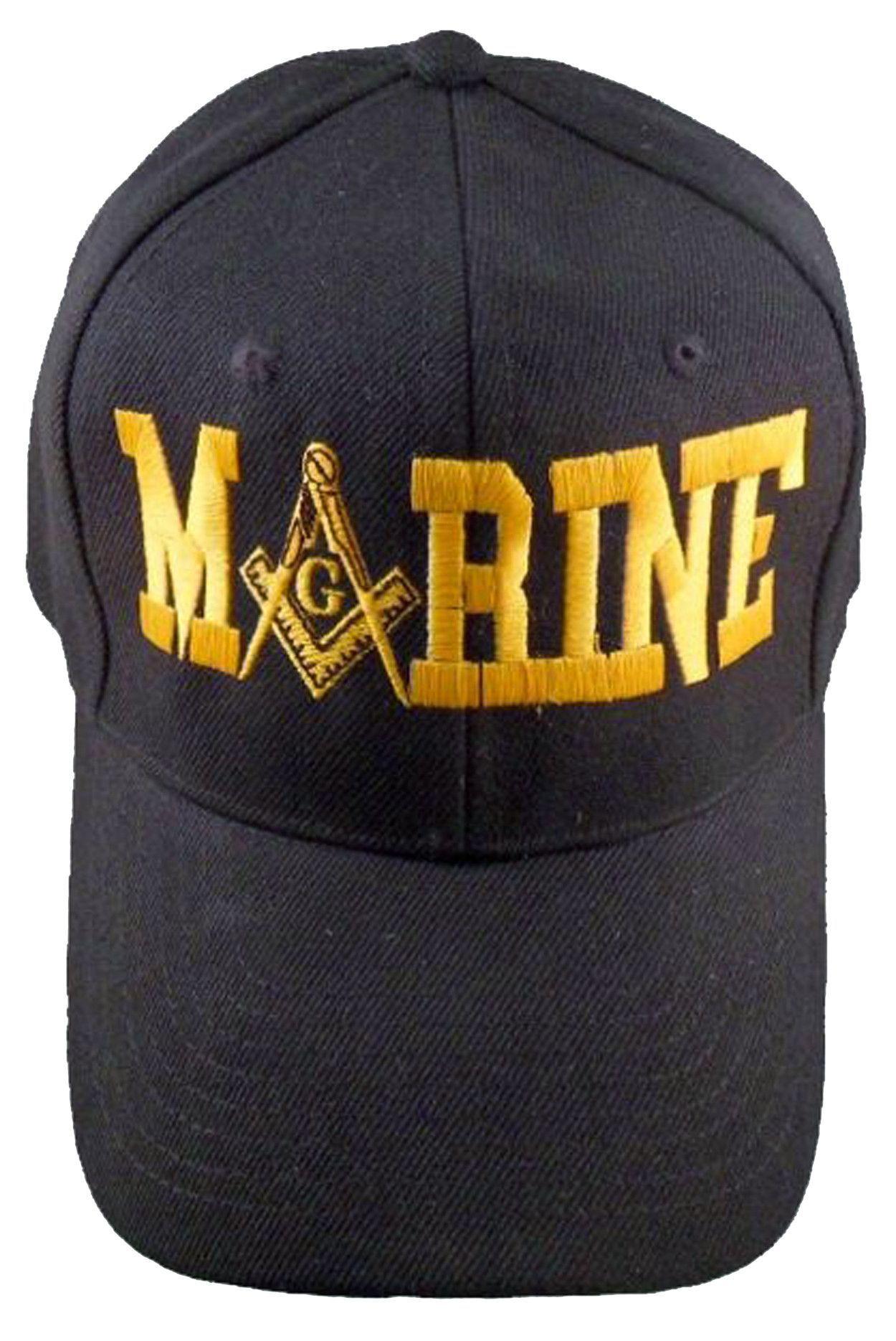 e45f02cba18 U.S. MARINES Black Masonic Baseball Cap Marine Mason Logo Hat for  Freemasons Shriners Prince Hall Masons Headwear