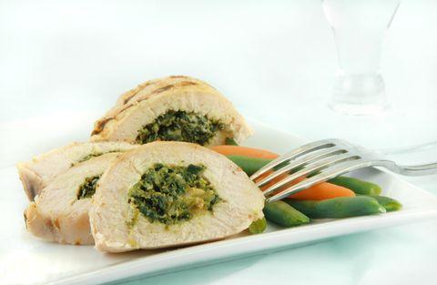 Mozzarella and Spinach-Stuffed Chicken
