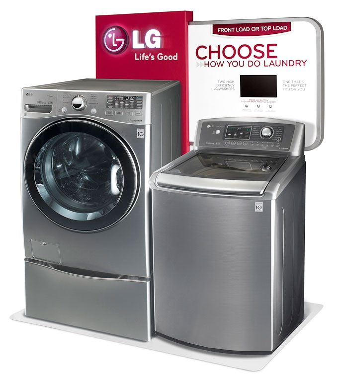 Lg Washer Dryer Endcap Display Design Lg Washer And Dryer Lg