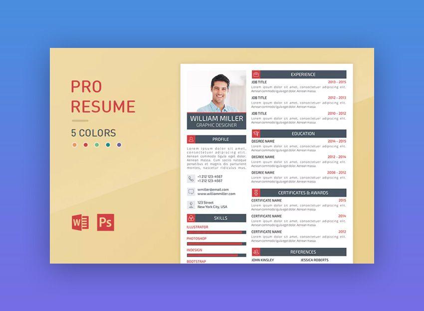 Pro Resume Cv Pinterest Modern Resume Template Modern Resume