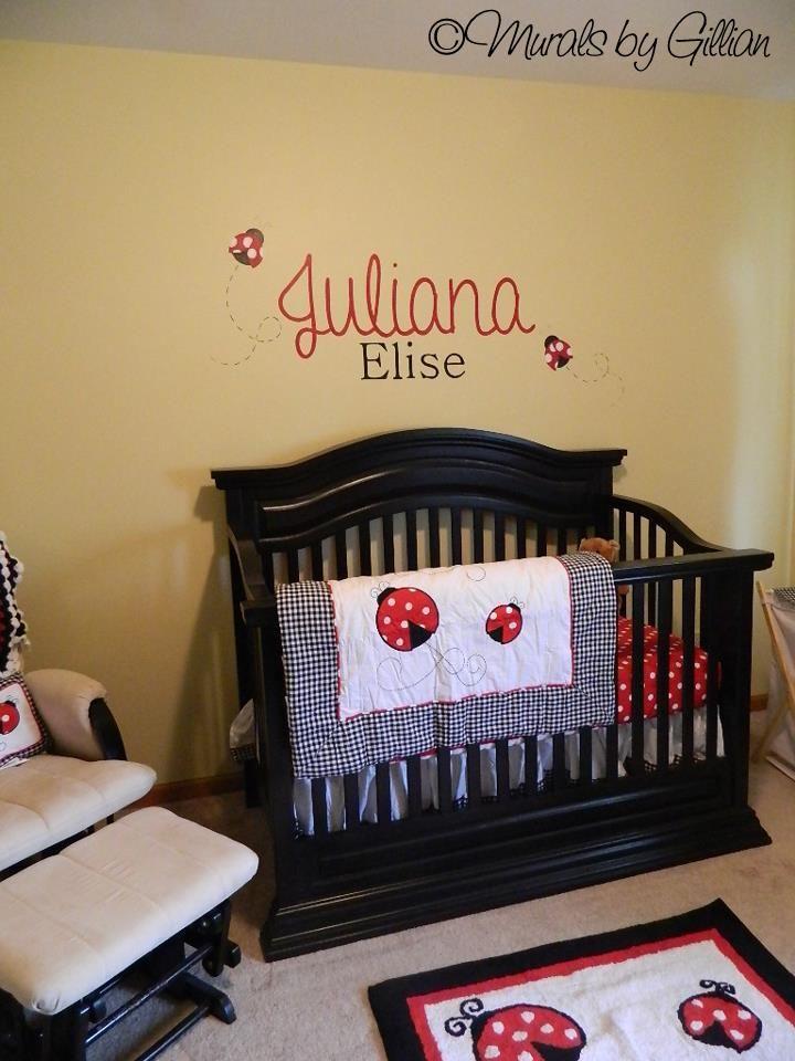 Juliana Ladybug Nursery Theme Mural