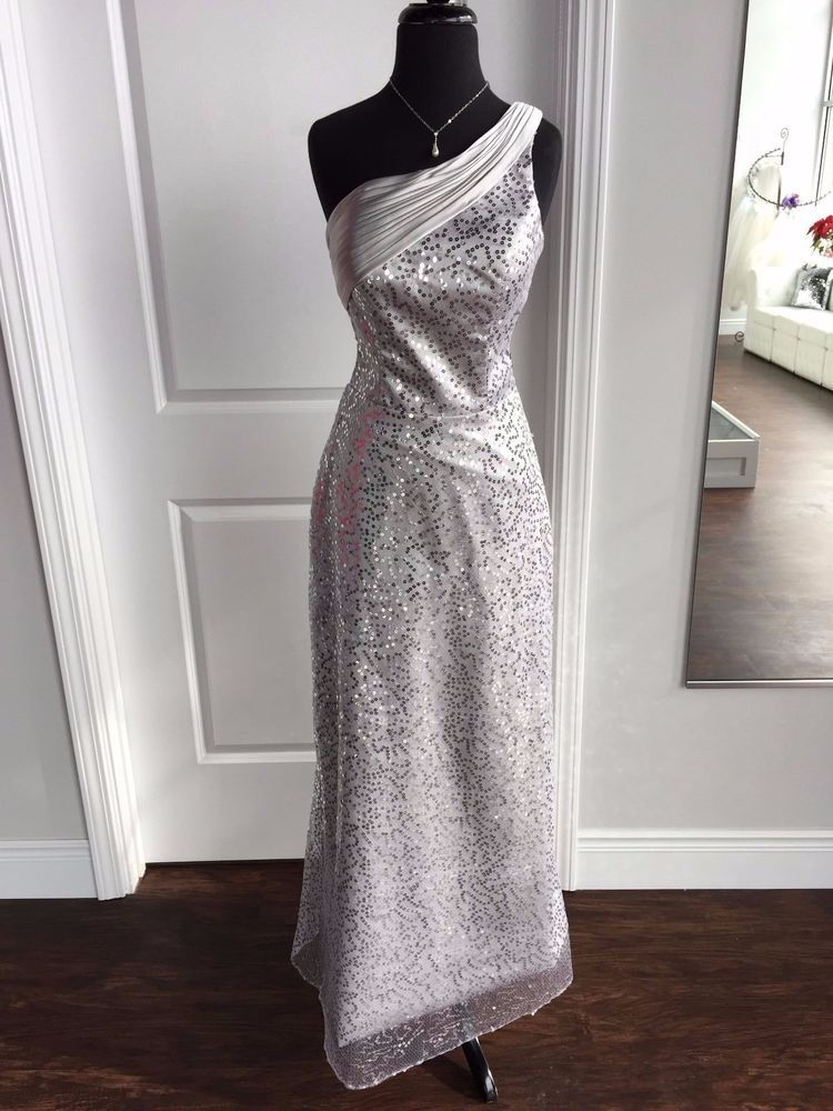 Silver Sequin Prom Evening Dress Gown #AmericasBride #Formal