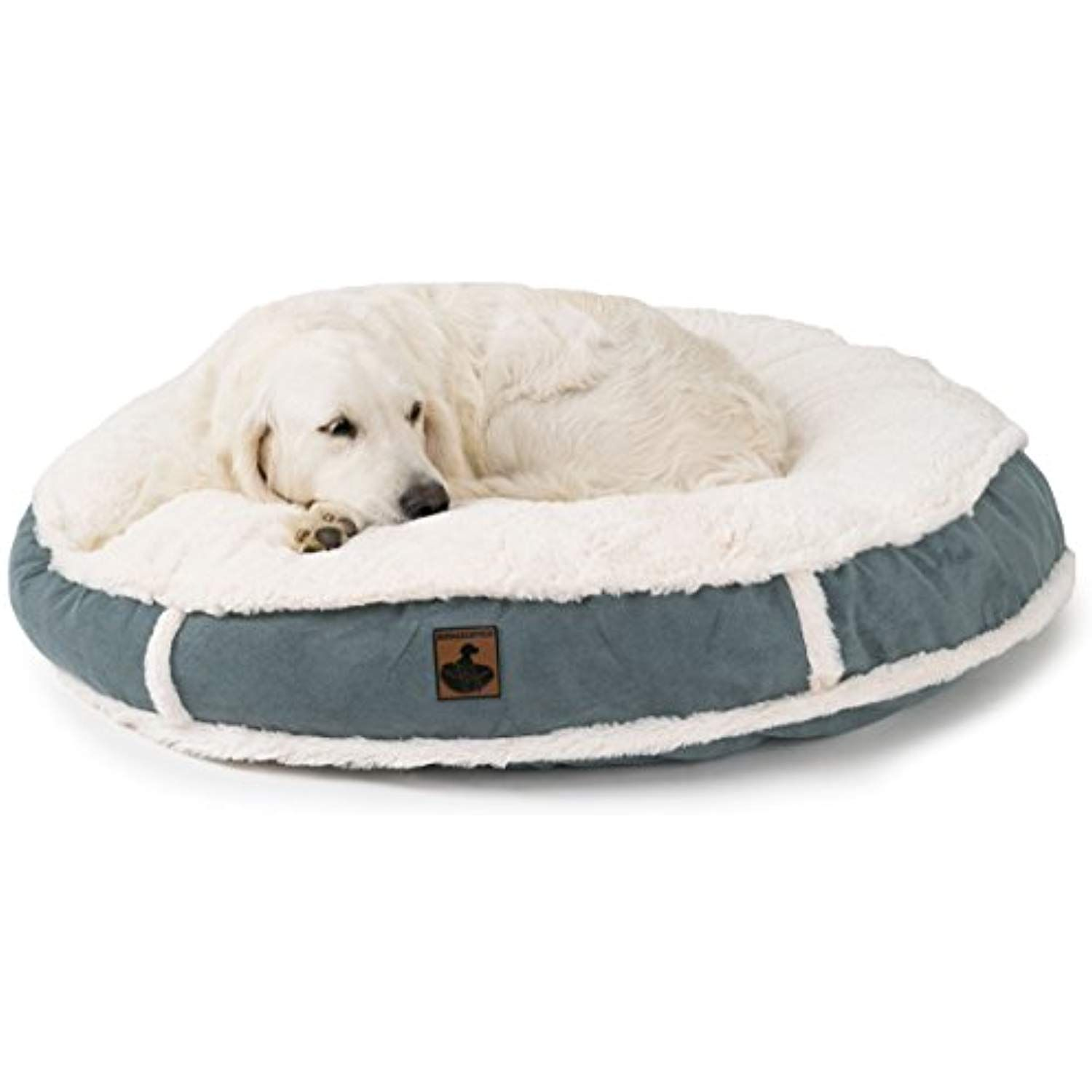 K9 Ballistics K9 666 Lux Round Pet Bed Large 42 Cream Fur Blue Gray Micro Find Out More About The Great Product At Round Dog Bed Giant Dog Beds Dog Bed