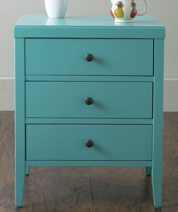 Rushville 3 Drawer Nightstand 3 Drawer Nightstand Blue Nightstands Nightstand