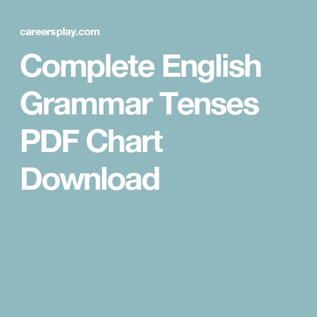 Complete english grammar tenses pdf chart download also education rh pinterest