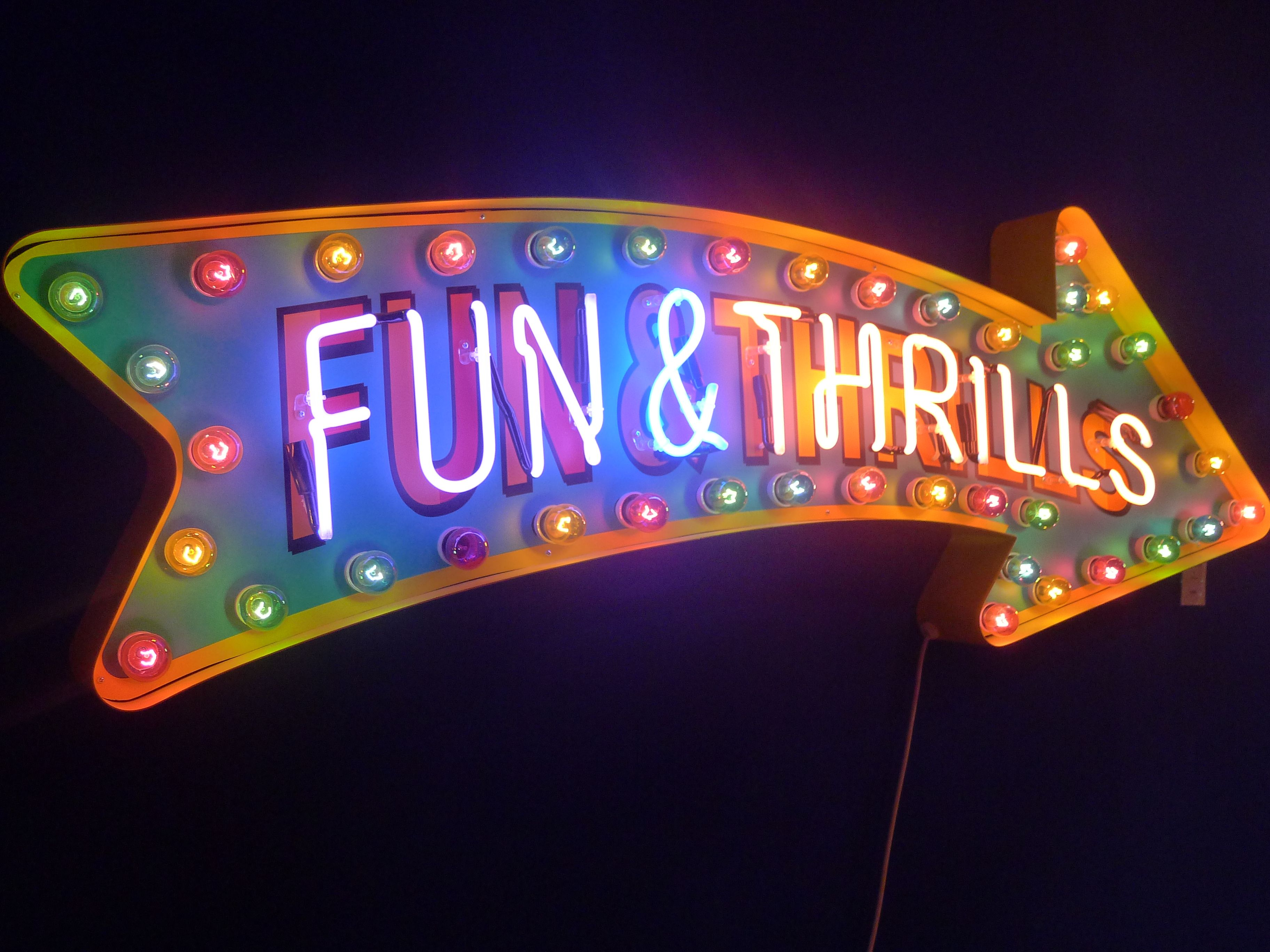 Fun thrills with images neon sign art store signs