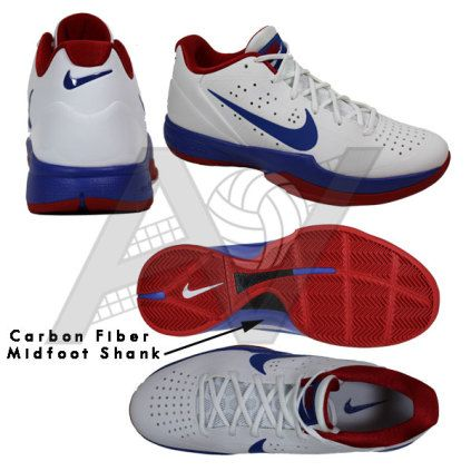 24e66dcd50942 Nike Men s Air Zoom HyperAttack Volleyball Shoe - White Royal Red Featuring  Nike Flywire technology and a tough outer shell that provides a durable  upper