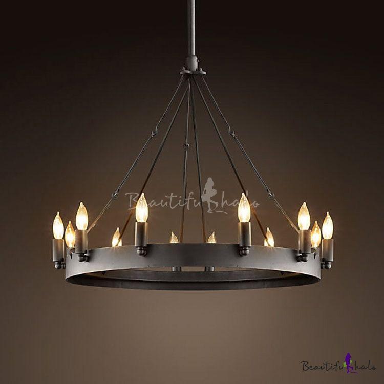 black metal chandelier. Vintage Black 12 Light Wrought Iron Chandelier - Beautifulhalo.com Metal U