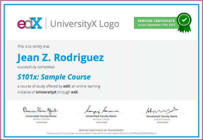 Edx يقدم الآن شهادات رسمية معتمدة Certificate Of Achievement Certificate Learning Courses