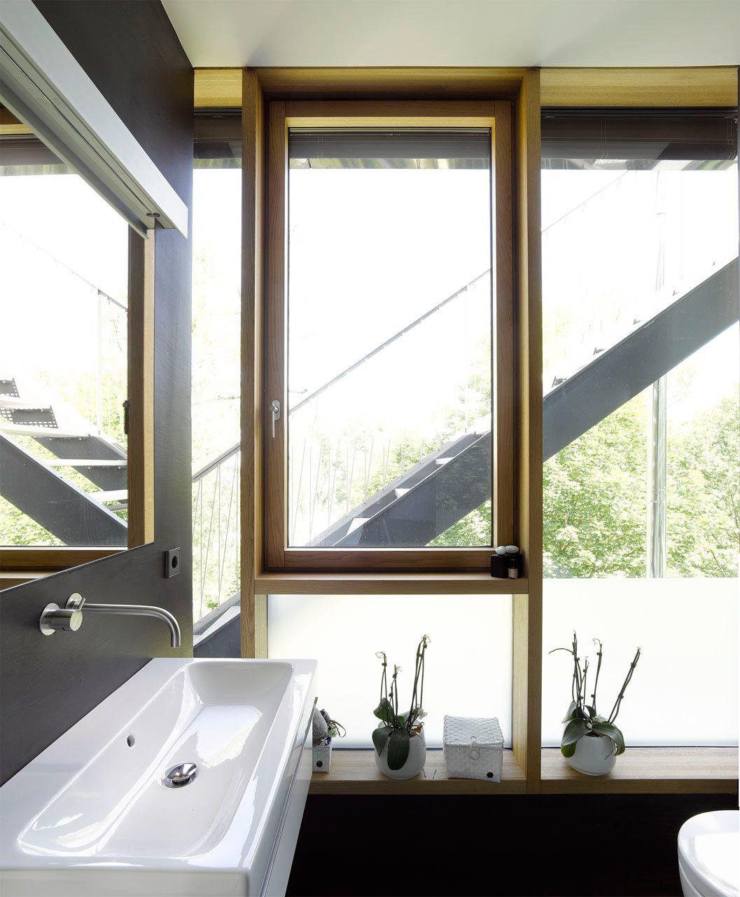Sliding window over kitchen sink  behnischarchitektenhausrenostuttgart  stuttgart haus and
