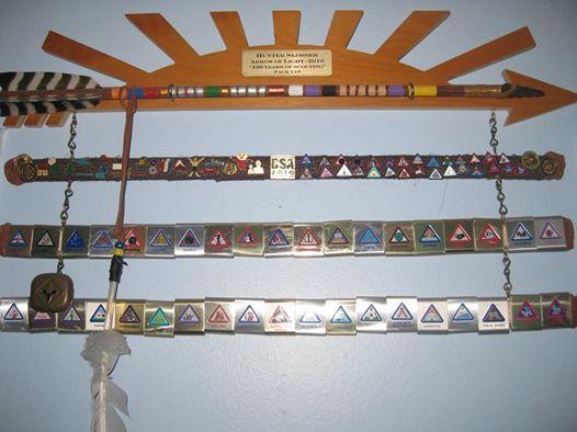 Cub Scout Belt Loop Display