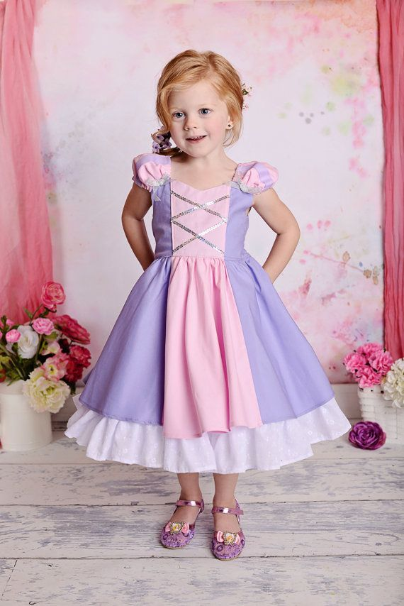 81a0f6c3f Gorgeous Rapunzel Tangled Costume Princess Dress with built-in ...