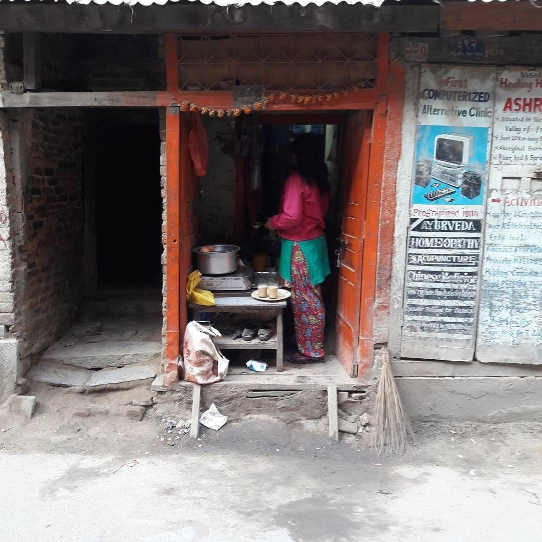 昔風のティーショップ #kathmandu