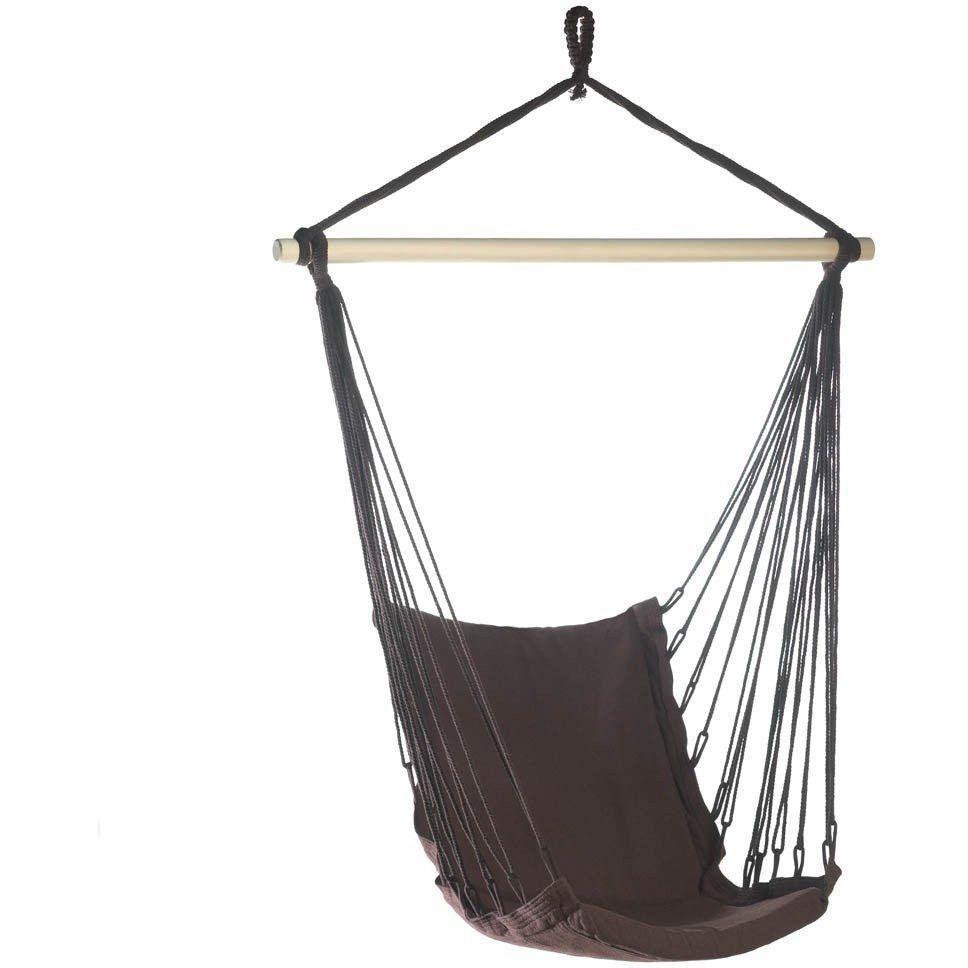 Dark Brown Cotton Padded Hammock Chair