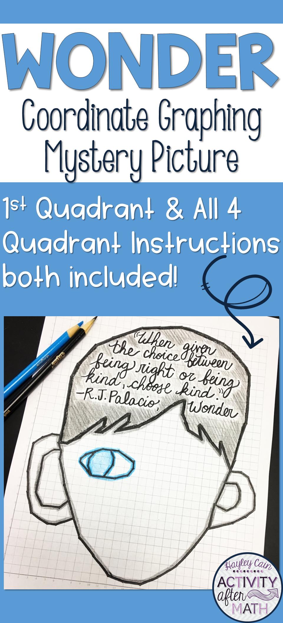 Wonder Coordinate Graphing Picture 1st Quadrant & ALL 4 Quadrants ...