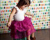 Mylania Jane Frilly Pink Lace Skirt