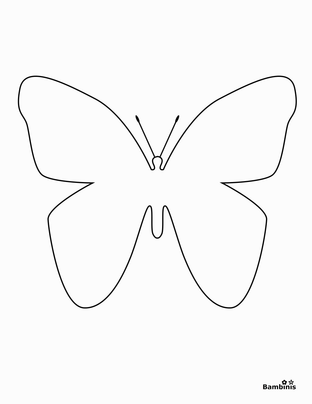 Simple Butterfly Coloring Pages | Butterfly coloring page ...