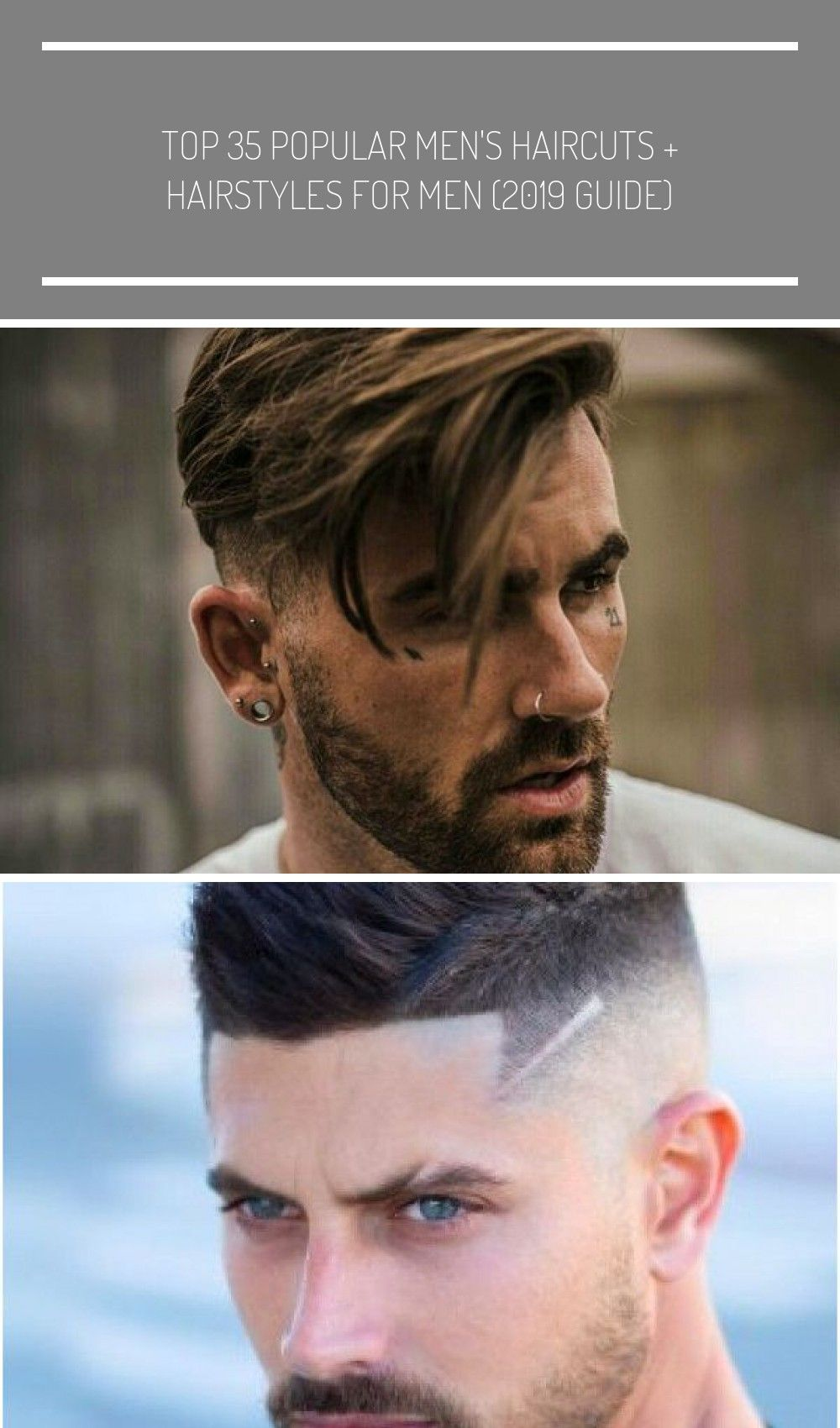 Short Fade Haircut on the Sides and Back with Long Side Swept Hair on Top Best Haircuts For Men Cool Mens Hairstyles To Get Right Now  Short Medium and Long Hair Guys for...